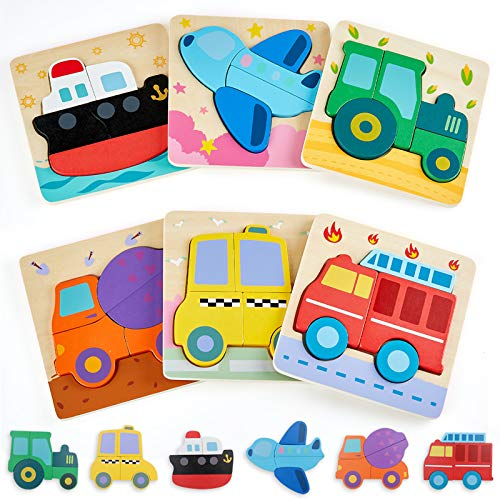 LOL-FUN Toddler Toys for 1 2 Year Old Boys Gifts, Wooden Puzzles for...