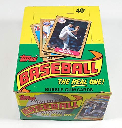 Topps 1987 Baseball Wax Pack Sammelkarten-Box (36 Packungen) Mögliche Rookie-Karten einschließlich Barry Bonds, Rafael Palmeiro und Barry Larkin