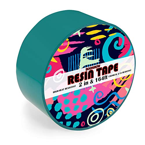 Resin Tape for Epoxy Resin Molding,Booshow Silicone Adhesive Tape, 2 inch Wide 164 Feet Long Traceless Craft Tape for Making River Tables Hollow Frame Bezels Epoxy Resin Craft Pendant
