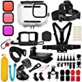 Deyard 52 in 1 Accessories Kit for GoPro Hero 9 Black, Rubber Case/Waterproof Case + 3 Filters Chest + Head/Wrist Strap+ Bike/Backpack Clip + Floating Grip by Deyard