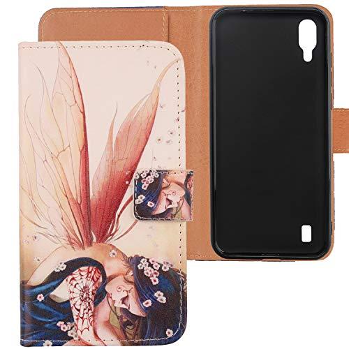 Lankashi PU Flip Leder Tasche Hülle Hülle Cover Handytasche Schutzhülle Etui Skin TPU Silikon Schale Für Blackview A60 6.1