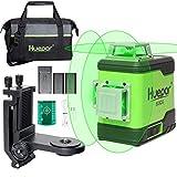 Huepar 3x360° レーザー墨出し器 グリーン 緑色 レーザー クロスライン 大矩 フルライン照射モデル 2電源方式 充電可能 軽天マウント 収納バッグ付き 503CG