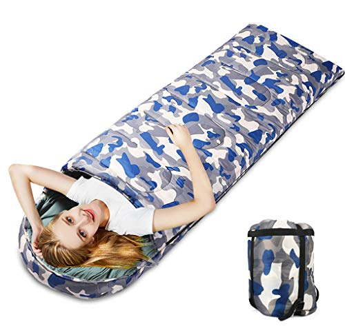 Idefair Sleeping Bag,Warm Lightweight Camping Bag Adult & Kid 4 Season Compact Gear Bag for Camping Traveling Hiking Outdoors Music Festivals (Camouflage gray)