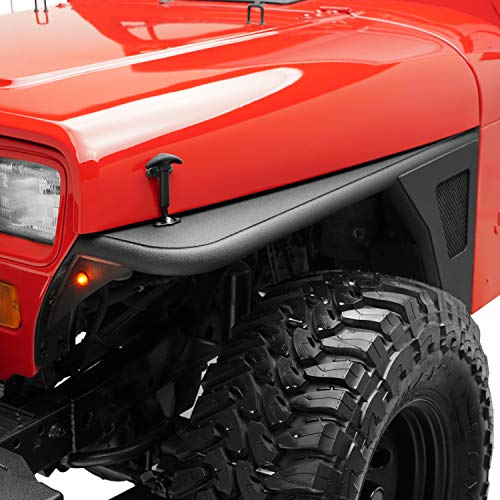 KML Fender Flare Rocker Guard with LED Eagle Light Fit for 87-95 Wrangler YJ