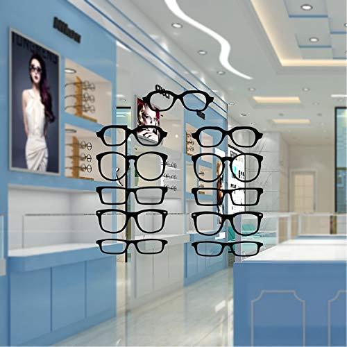 PMSMT Hipster Gafas Tira Vinilo óptico Etiqueta de la Pared Tienda Ventana Vidrio Arte decoración calcomanías, Marcos de Gafas Pegatina de Vinilo extraíble