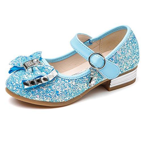 Kikiz Little Girl's Princess Dress Shoes Kids Mary Jane 8 M US Toddler, Aa-blue