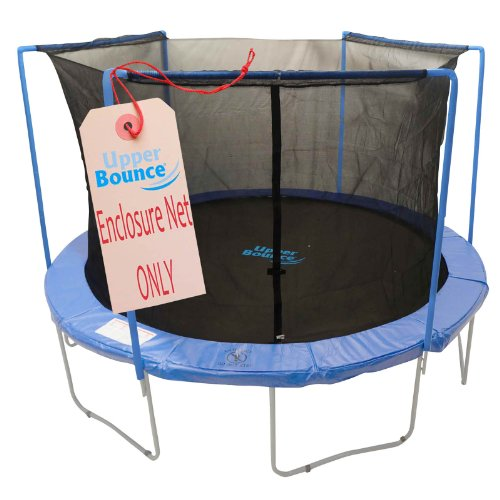 Upper Bounce Trampoline Safety Enclosure Net, Fits 14 FT Round Frame, Using 3 Arches - with Top Sleeves