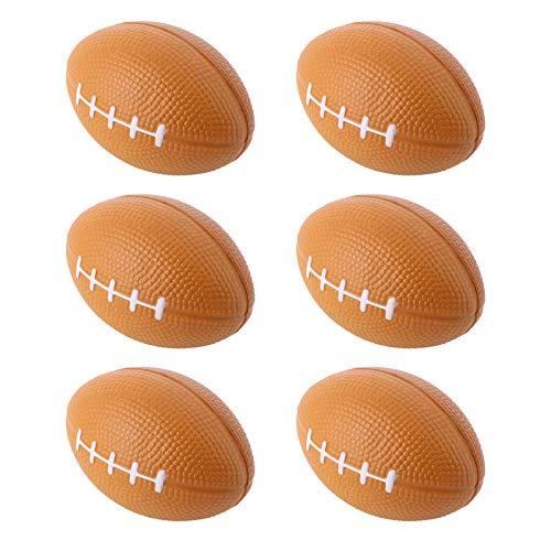 BESTOYARD Fußball Stress Bälle Relax Balls Schaum Super Bowl Toy Balls 6 Stück Zufällige Farbe