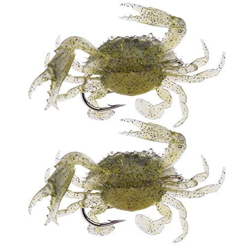 DAUERHAFT Leurre de Poisson en Forme de Crabe Vif...