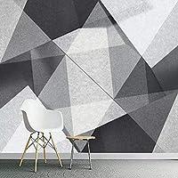 カスタム壁画壁紙現代のミニマリスト3Dジオメトリポリゴンリビングルーム背景写真壁紙壁画-200x140cm