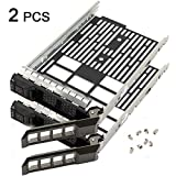 2 PCS Hard Drive Tray Caddy for Dell Poweredge Series 11/12/13 Generation Models 3.5' SAS/SATA R430, R530, R730, T430, T630, R420, R520, R720, T420, T620, R410, R510, R710, T410, T610 etc.