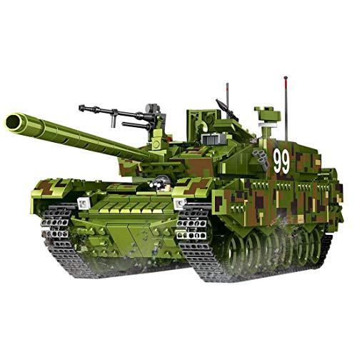 TOPD Kit de Modelo de construcción de Tanques, Juego de construcción de Tanques Militares de Tipo 99 Chino, Montaje de Bloques de construcción e insertando Juguetes de cumpleaños