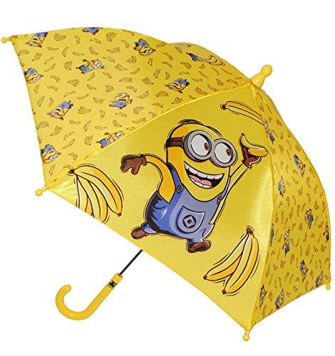 alles-meine.de GmbH Regenschirm / Stockschirm - Minions  Ich einfach unverbesserlich  - GELB - Kinderschirm - Ø 68 cm - Kinder Schirm Kinderregenschirm / Glockenschirm - für Mä..