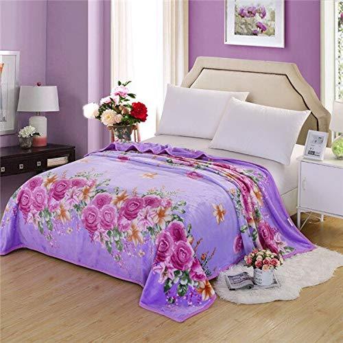 RONGXIE New Bohemia Flowers Decken Quilts Twin Full Queen King Erwachsene Decken Soft Throw Flanell Decken Auf Bett/Auto/Sofa Blue Kids Rugs Bettwäsche
