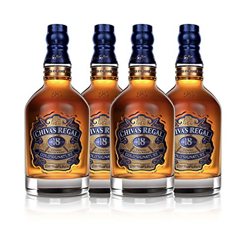 Chivas Regal 18 años Blended Scotch Whisky 4er Set, Whiskey, Schnaps, Spirituose, alcohol, botella, 40%, 4 x 700 ml