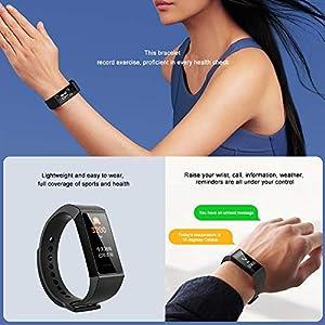 Xiaomi Mi Band 4C Smart Bracelet Fitness Tracker Pantalla a Color de 1.08 '' Pulsera de Actividad con Monitores de Actividad, 50 M a Prueba de Agua, Carga Portátil, Negro
