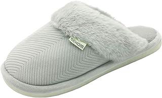 BaiMoJia Pantofole Donna Uomo Inverno Caldo Confortevole Scarpe da Casa Peluche Interno