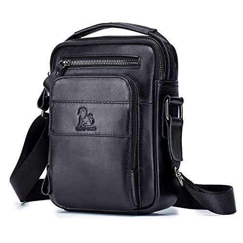 BAIGIO Men's Genuine Leather Shoulder Bag Messenger Briefcase CrossBody Handbag Satchel Travel bag