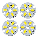 uxcell 300mA 3W LED Chip Bulb SMD Light Beads Warm White Super Bright High Power or Floodlight 4pcs