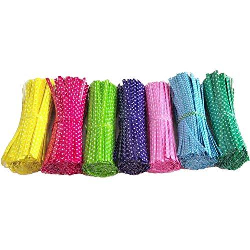 Oulensy 100pcs 9cm Draht Metallic Twist Krawatten Für Cello Candy Bag Stahl Backen Verpackung Ligierung Lollipop Dessert Sealing Twist Tie Zufällige Farbe