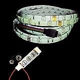 1M 5050 RGB LED strip 3-key controller 9v battery connector - glowhut.com