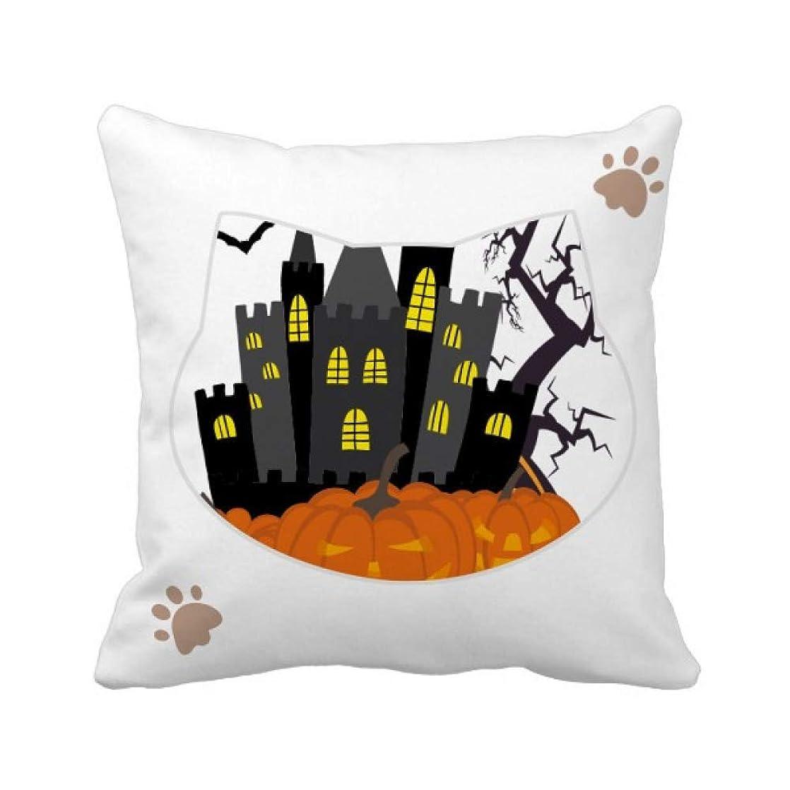 隙間モンスター社説夜の万聖節の怖い城 枕カバーを放り投げる猫広場 50cm x 50cm