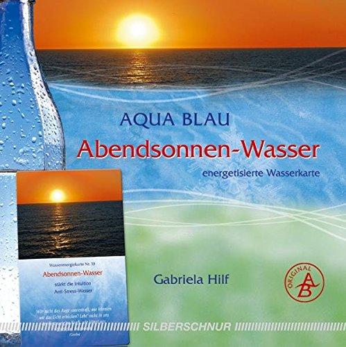 Abend-Sonnen-Wasser: Wasser-Energiekarte, stärkt die Intuition/Anti-Stress-Wasser, orange+rot