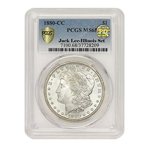 1880 CC American Silver Morgan Dollar MS-68 PQ Approved Illinois Set by CoinFolio $1 MS68 PCGS