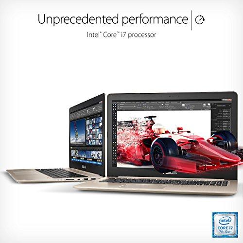 "ASUS VivoBook Pro 15 4K Touchscreen Laptop, Intel Core i7-7700HQ, Gaming GeForce GTX 1050, 16GB RAM, 256GB SSD+1TB HDD, 15.6"" UHD (3840 x 2160) WideView, Backlit Keyboard, Fingerprint,N580VD-DS76T"