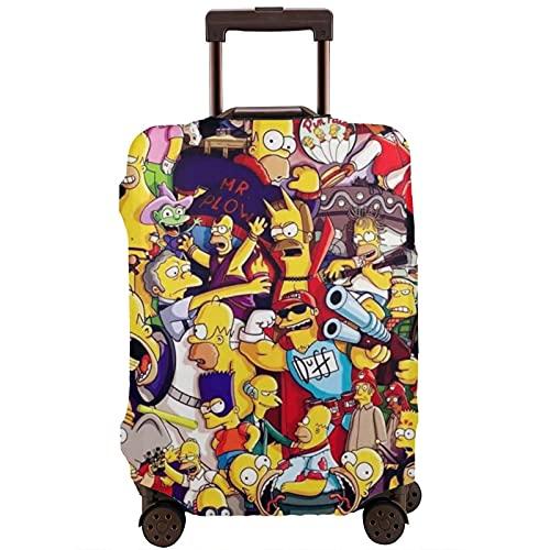 Anime Cartoon Simpsons Valigia Protector Caso Lavabile Stampa 3D Design 4 Dimensioni per la maggior parte dei bagagli Borsa Protettiva Cerniera