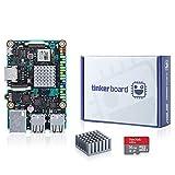 youyeetoo ASUS 2GB Tinker Board + Estuche de acrílico + OS TF Tarjeta SBC RK3288 SoC 1,8 GHz Quad Core CPU, GPU Mali-T764