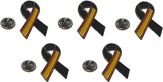 Gemelolandia   Pin Bandera España Lazo Negro Parche bordado lazo negro Pin España Bandera con Crespón Luto Unidad o Pack  ...
