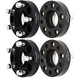 ECCPP 4X 5 Lug Hub Centric Wheel Spacers 5x4.5 to 5x4.5 1.25' Thick Black Full Hub Centric Heavy Duty Forged Aluminum Billet Fits for F-ord Explorer for Mercury Mountaineer for Mazda for Lincoln