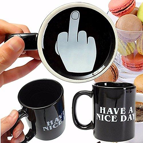 REAMTOP Schwarze Kaffeetasse mit der Aufschrift