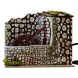 ROSSI ROSA Mulino ad Acqua con Pompa, 20 x 14 x 17 cm