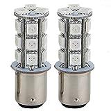 XZANTE 2 Stroboscopi Lampade Strobo Luce Freno 18 LED SMD5050 Rosso per Auto