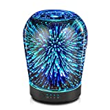 Porseme Essential Oil Diffuser, Aromatherapy Ultrasonic Cool Mist Humidifier, 3D Effect Glass, Auto Shut-Off, Timer Setting,100ml Aroma Decoration for Home, Office, Gym, Spa, Premium Gift
