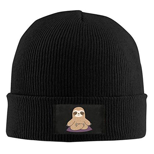 SOUL-RAY Perezoso tema de yoga al aire libre e interior Ocio trabajo invierno cálido sombrero de lana, regalo para hombres.