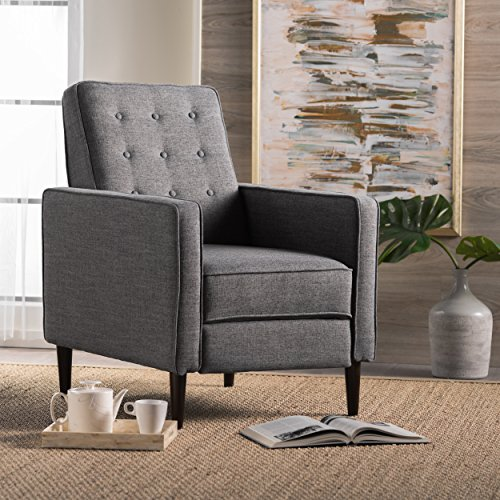 Christopher Knight Home Mid Century Modern Recliner, Single, Grey
