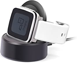 Pebble Time Charger,Pebble Time Steel Cable Charger Charging Stand,Itian Charging Dock Station Cradle Holder Charging Cabl...