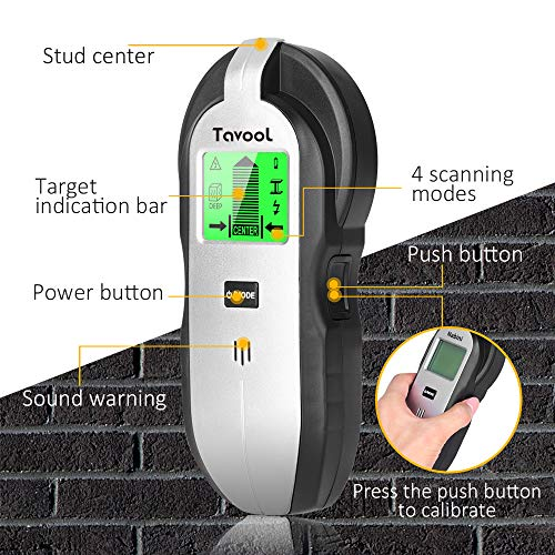 Stud Finder Sensor Wall Scanner - 4 in 1 Electronic Stud Sensor Beam Finders Wall Detector Center Finding with LCD Display for Wood AC Wire Metal Studs Joist Detection
