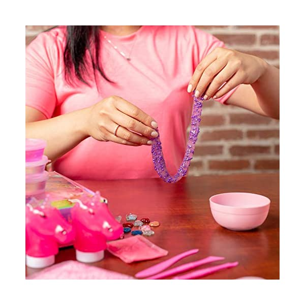 Princess Slime Kit for Girls - Bonus Unicorn Slime and Glow-in-The-Dark Slime Mixing Fun, 12 Colors - Stretchiest Slime Kit, Slime Charms, Crowns, Foam, Glitter, DIY Pink, Clear Slime, Toys for Girls 7