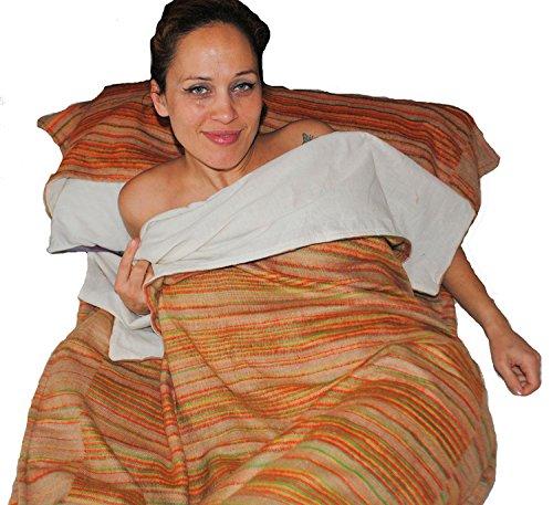Karamba Die Original-Fair-Trade-tibetischen Yak Wolle Woll-Schlafsack (Multicolour (Baumwolle gefüttert))