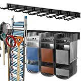 TORACK Tool Storage Rack, Heavy Duty Steel Garage Wall Mount Garden Tool Organizer for Ladders, Chairs, Shovels, Broom, Power tools (8-Pack 5.7'-11' Mixed Hooks, up to 800 lbs)