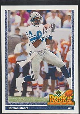 1991 Upper Deck Herman Moore Lions Rookie Football Card #639