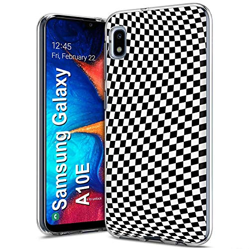 MOBIFLARE Slim Case for Samsung Galaxy A10E, Not for Galaxy A10, Checkers Design Light Weight, Unbreakable, Flexible, Surround Edge Protection