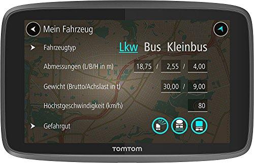 TomTom-GO-Professional-6250-LKW-Navigationsgeraet-Updates-ueber-Wi-Fi-Lebenslang-Traffic-und-Radarkameras-6-Zoll-Duales-USB-Auto-Schnellladegeraet-geeignet-fuer-alle-TomTom-Navigationsgeraete