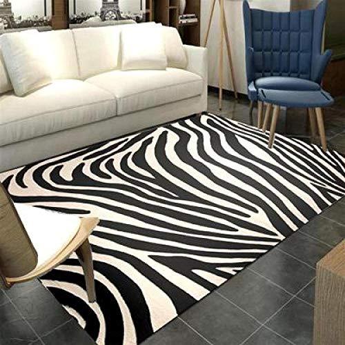 Qijidzswyxgs tapijt, abstract, Europees tapijt, woonkamer, slaapkamer, kunst, vloertapijt, restaurant, dik, zwart en wit, tapijt, zebrapatroon