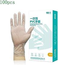 100 guantes desechables para adultos, para pintar, sin látex, de grado alimenticio, guantes resistentes al desgaste para manualidades, pintura, jardinería, limpieza y cocinar, guantes de PVC
