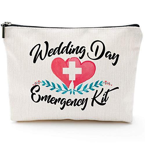 Kit de emergencia para boda, kit de maquillaje, regalo de despedida de soltera, kit de supervivencia de boda, bolsa de cosméticos, regalos de novia, regalo de novia